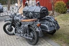 Kalviška šašlykinė motociklas su priekaba