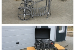 2-shelf barbeque with wheels SUMMER TOP