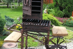 Barbeque with an integrated meat smoking facility with wheels THERE IS NO CRISIS