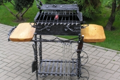 Barbeque with wheels, 2-level roasting 600x400x200