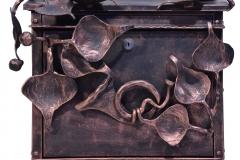 Blacksmith postbox LEAF MOTIFS