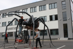 Sculpture AN ATTACKING SPIDER, height 3500mm, width 5500mm