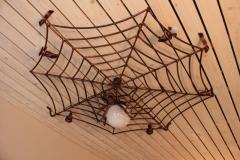 GAM-2 Lamp Spider silk with a spider