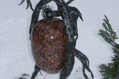 Pastatomas šviestuvas su akmeniu KREPŠKALVIS