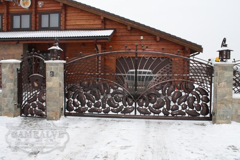 Ворота и калитка ОБЛАКО
