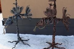 Skulptūra LEDINE ŽUVIS su apšvietimu