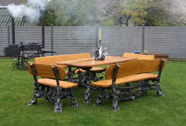 Blacksmith outdoor and indoor furniture, swings