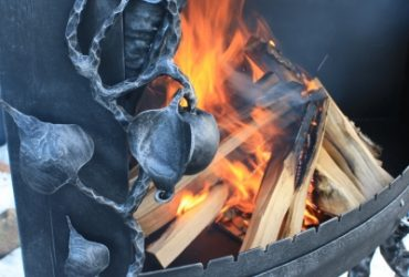 Blacksmith outdoor fireplaces and fire pits